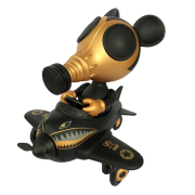 "Ron English x BlackBook Toy( ��󡦥��󥰥�å���)��Mousemask Murphy in Airplane ""Super Black"" Edition"