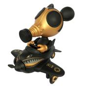 "Ron English x BlackBook Toy( �����å���)��Mousemask Murphy in Airplane ""Super Black"" Edition"