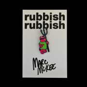 Marc McKee x Rubbish Rubbish(マーク・マッキー) Rocco Bear PU ピンズ