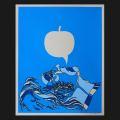 David Flores(デイビッド・フローレス) Blue Apple(ブルーアップル) シルクスクリーンポスター