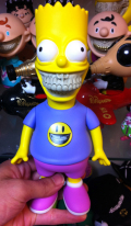 Ron English x The Simpsons:Bart Grin 8 3D Retro&quot;Ron English&quot; Edition