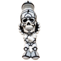 "David Flores x HellFire Canyon Club x BlackBook Toy:Deathead S'murks ""Ghost"" Toy Art Gallery Exclusive"