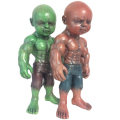 Ron English( ��󡦥��󥰥�å���)��Temper Tot 8������ե����奢 Albino Green&Red Custom Painted by Kenth Toy Works for BBT