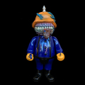 Frank Kozik x BlackBook Toy:A Clockwork Hateball Hate Orange painted by Kenth Toy Works