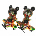 Ron English x BlackBook Toy( ロン・イングリッシュ) Mousemask Murphy in Airplane Autumn Stealth Camo edition