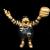 Ron English x BlackBook Toy( ロン・イングリッシュ):EVIL MC 16インチフィギュア Golden Boy