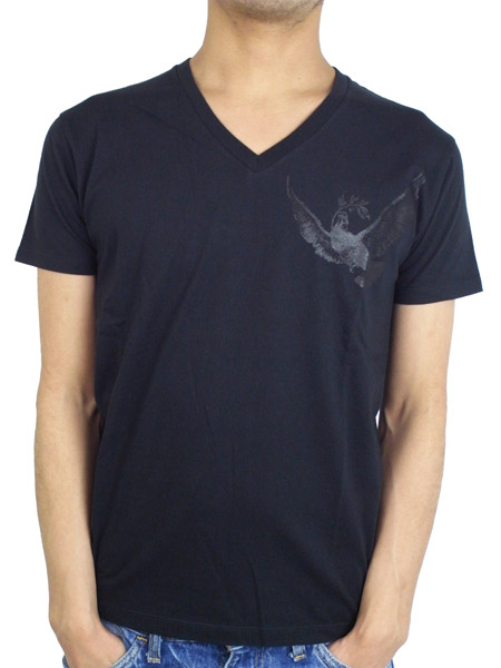 "Rolland Berry S/S V NECK TEE ""PHENIX"" BLACK"