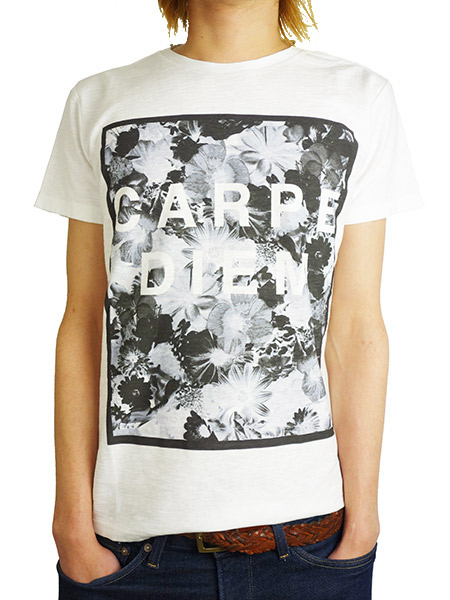 Rolland Berry CARPE DIEM FLORAL TEE WHITE