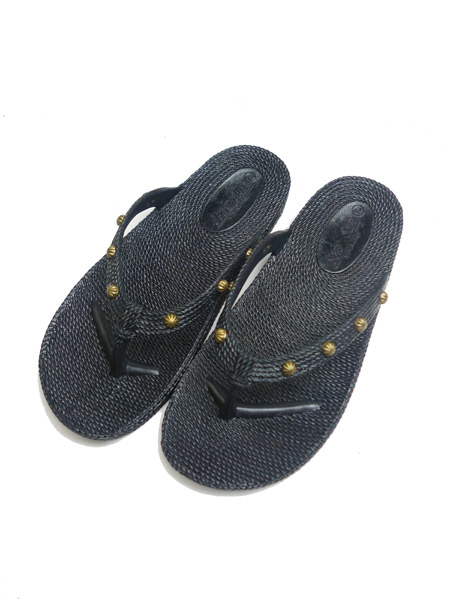SEASUN STUDS CUSTOM SANDAL BLACK/BRASS