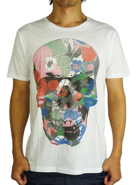 Rolland Berry S/S TEE ' Flower Skull ' White
