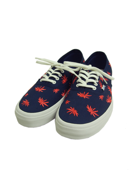 VANS VAULT Authentic Lx (PALM EMBROIDERY) ESTATE BLUE