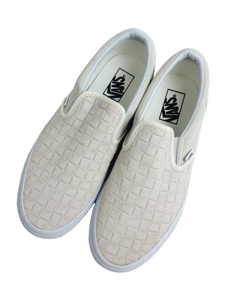 VANS Classic Slip-On (SUEDE CHECKERS) BLANC DE BLANC