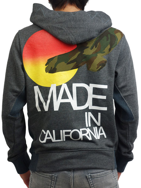 Rolland Berry ZIP UP HOODIE California Camo Bird H.GRAY