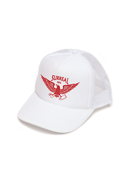 "SURREAL ""DOUGRAS"" Trucker Mesh Cap WHITE"