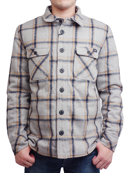 "SURREAL ""SAKU"" Quilting Flannel Shirt Jacket GRAY"