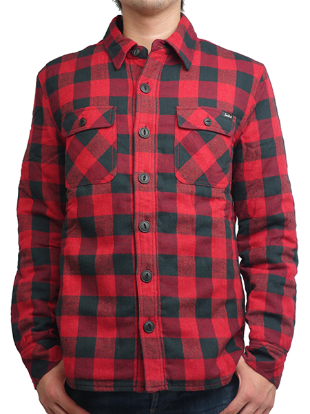 "SURREAL ""TATSUKI"" Quilting Flannel Shirt Jacket RED"