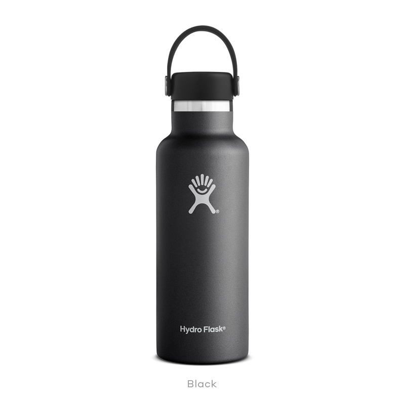 Hydro Flask HYDRATION 18 oz Standard Mouth BLACK