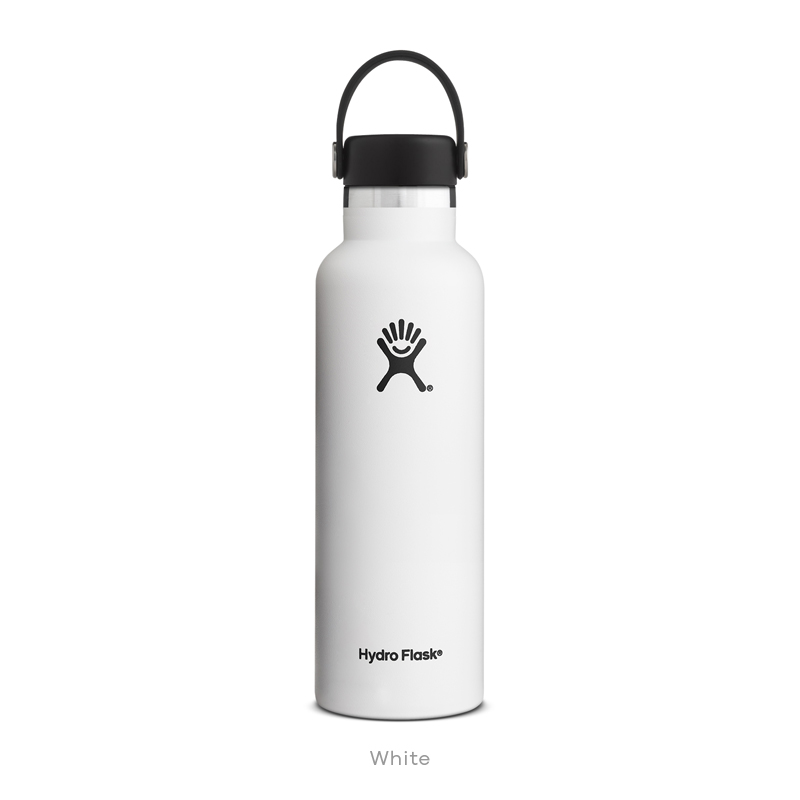 Hydro Flask HYDRATION 21 oz Standard Mouth WHITE