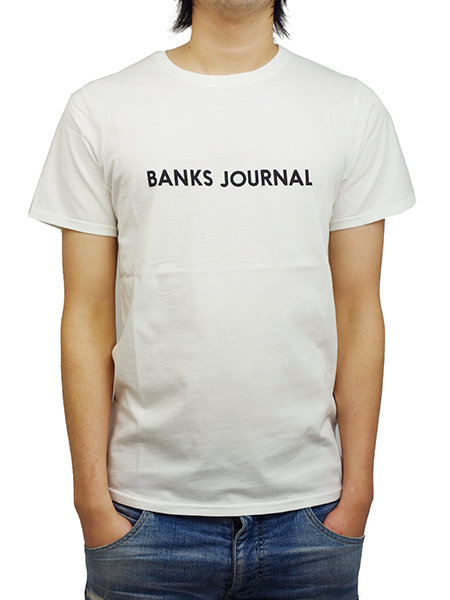 BANKS LABEL TEE SHIRT OFF WHITE