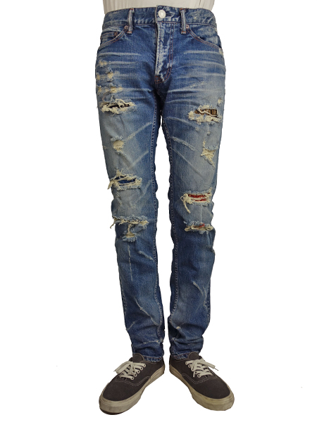 TMT STRETCH GRUNGE-REPEIR DENIM 5P TAPERED