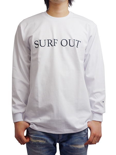 "Toecutter HEAVY WEIGHT L/S TEE ""SURF OUT"" WHITE"