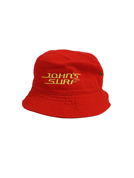 JOHN'S SURF  BUCKET HAT RED×GOLD