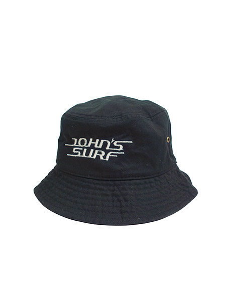 JOHN'S SURF  BUCKET HAT BLACK×WHITE