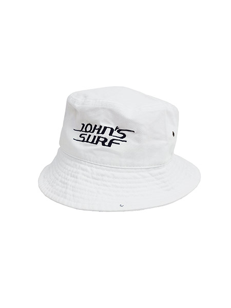 JOHN'S SURF  BUCKET HAT WHITE×BLACK