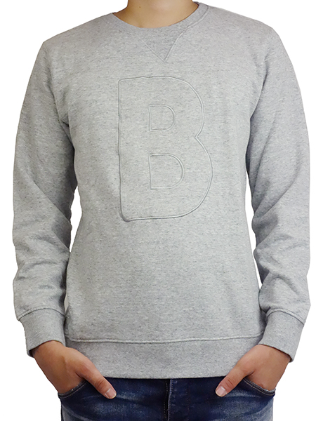 BANKS B FLEESE L/S HEATHER GREY