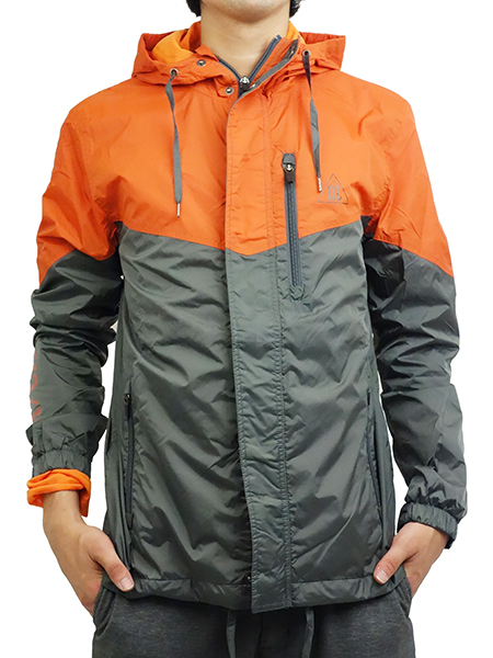 THE QUIET LIFE MC Windbreaker Jacket Orange/Grey