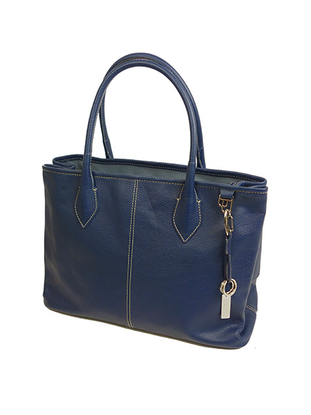 DESTINY'S DIMENSION Leather Tote Bag WESTWOOD 2 DEEN BLUE (BLUE)