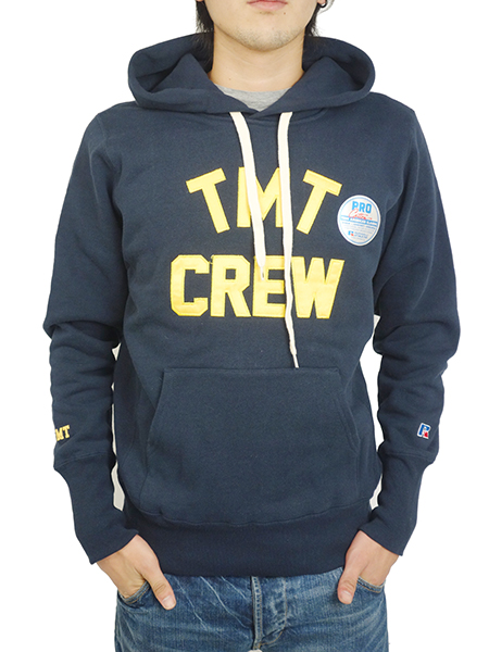 TMT×RUSSELL HEAVY WEIGHT FRENCH TERRY PARKA (TMT CREW) NAVY
