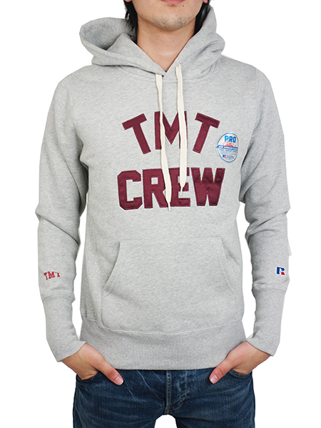 TMT×RUSSELL HEAVY WEIGHT FRENCH TERRY PARKA (TMT CREW) TOP GRAY