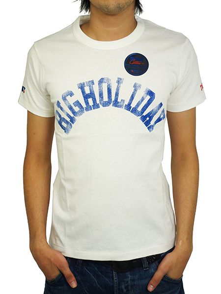 TMT×RUSSELL T-SHIRT (BIGHOLIDAY)  WHITE