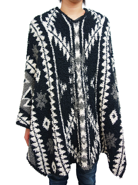 Birvin Uniform MOKOMOKO PONCHO BLACK
