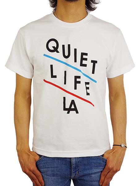 THE QUIET LIFE SLANT TEE WHITE