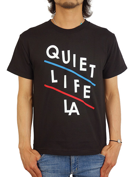 THE QUIET LIFE SLANT TEE BLACK