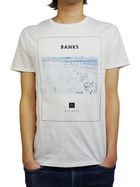 BANKS CROWD TEE SHIRT OFF WHITE