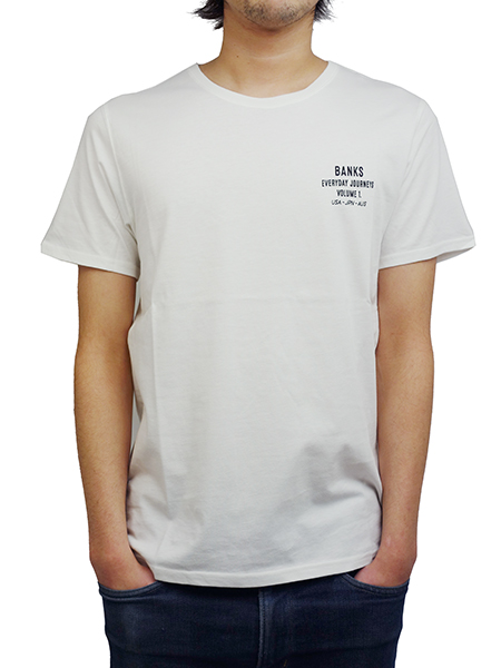 BANKS FAME TEE SHIRT OFF WHITE