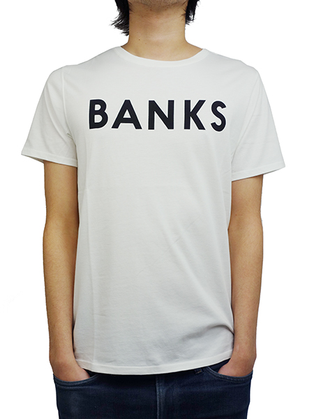 BANKS CLASSIC TEE SHIRT OFF WHITE