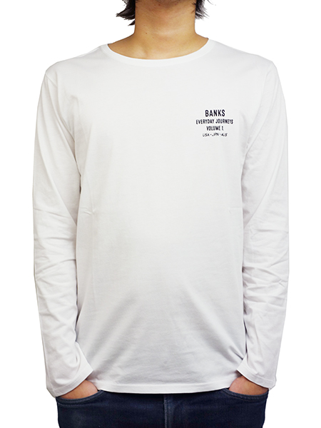 BANKS FAME L/S TEE SHIRT OFF WHITE