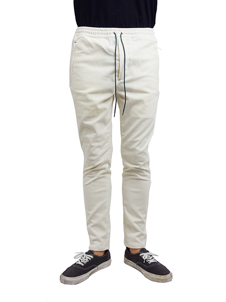 Williamsburg & Co Summer corduroy long pants White