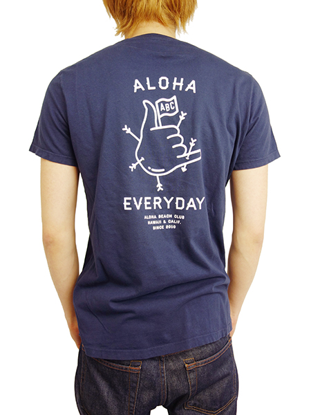 ALOHA BEACH CLUB S/S TEE ALOHA EVERYDAY NAVY