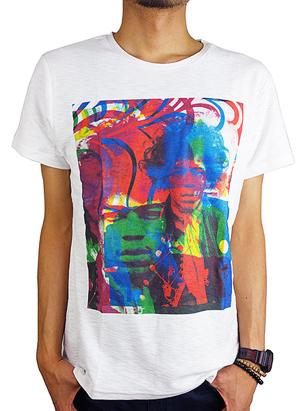 "Rolland Berry S/S ART TEE ""HENDRIX 2"" WHITE"
