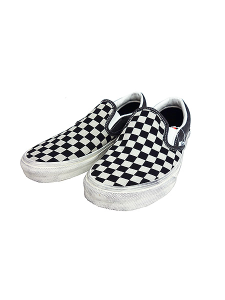 VANS CLASSICS Classic Slip-On (OVERWASHED)BLACK/CHECK
