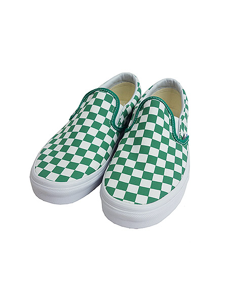 4e937bdaa41b26 green and white checkered vans   Come and stroll!