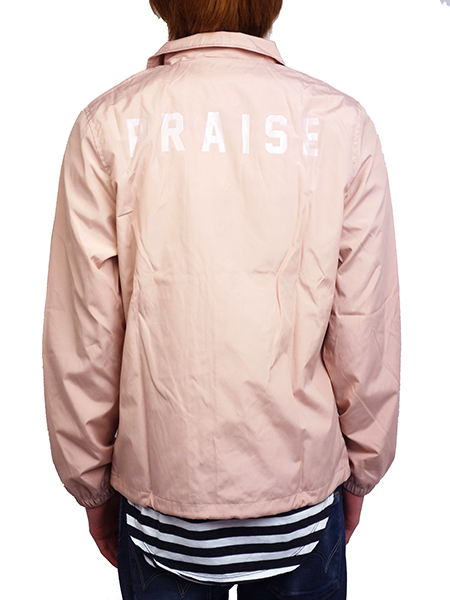 PRAISE. DORYS COACH JACKET DUSTY PINK