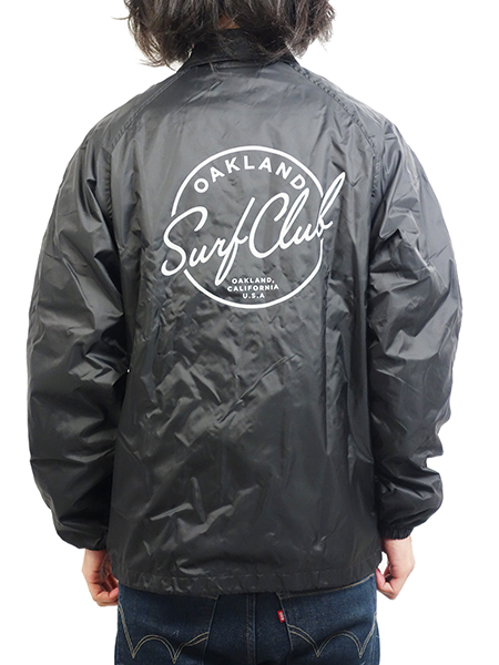 HIDE AND SEEK × OAKLAND SURF CLUB TEAM JACKET BLACK