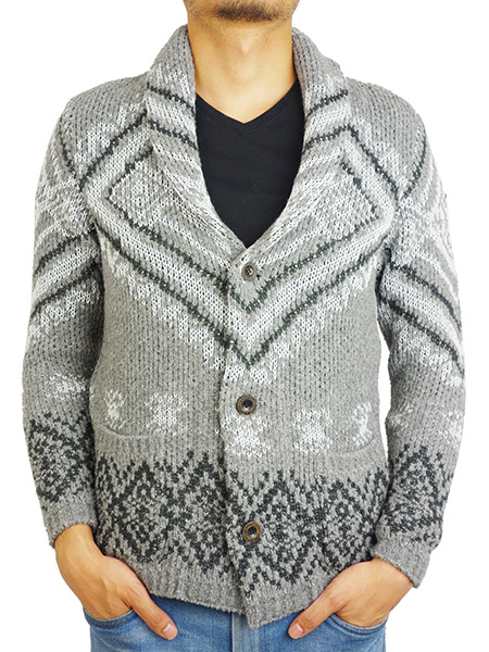 SeaGreen Native shawl collar cardigan GRAY