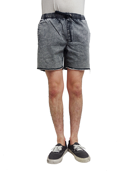 AFENDS Pint Denm Shorts BLACK ACID